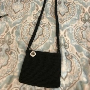 The Sak black woven mini purse